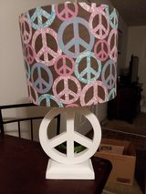 Peace sign lamp in Fort Campbell, Kentucky
