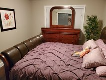 king size with dresser and mirror in Fort Campbell, Kentucky