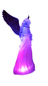 LED Lighted Color Changing Angel with Trumpet in Ramstein, Germany