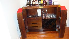 Korean Bar Cabinet with Wine Storage in Charleston, South Carolina