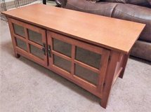 Mission Style TV Cabinet with 2 Glass Doors in Spring, Texas