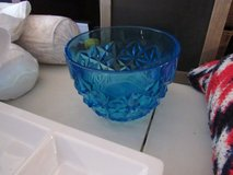 Blue crystal bowl great for fruit salad in Alamogordo, New Mexico