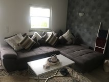Large couch with chase in Spangdahlem, Germany