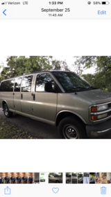 2001 Chevrolet 15 passenger express van in Westmont, Illinois