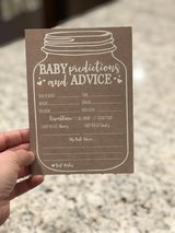 Baby Shower Prediction Cards in Orland Park, Illinois