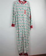 New One Piece Mens JAMMIES for FAMILIES Large Front Zip in Aurora, Illinois