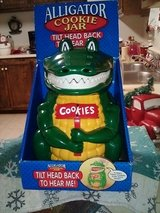 Vintage alligator cookie jar in Yucca Valley, California