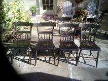 Four vintage chairs in Kingwood, Texas