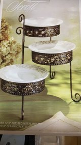 ***BRAND NEW***Elegant Scroll Design Serving Tier Plates*** in Kingwood, Texas