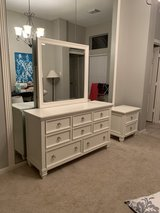 White Dresser, mirror and bedside table in Kingwood, Texas