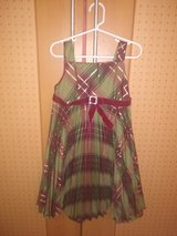 red green plaid Christmas dress size 5 in Ramstein, Germany