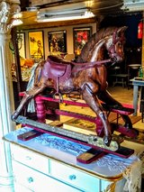 circa 1890 carved rocking horse in Cherry Point, North Carolina