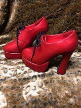 Red Fortini Platform Block Platform Heels in Cherry Point, North Carolina