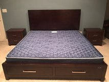 king size platform bed. in Bellaire, Texas
