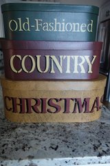 Holiday Decorative Canister/Box (3) in Cherry Point, North Carolina