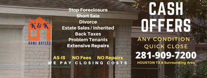 We pay cash for houses! in Houston, Texas
