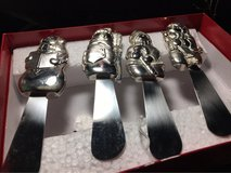 Wallace Silversmiths silver plated holiday snowman spreaders in Warner Robins, Georgia