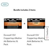 16-pack of AA / 16-pack of AAA  duracel batteries in 29 Palms, California