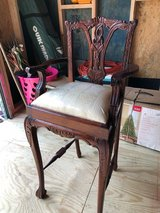 Cherry Dining table Child's High Chair Front Claw Foot in Spring, Texas