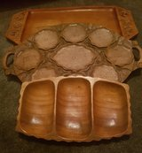Vintage collectable hand carved wooden trays in Lakenheath, UK