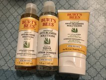Lot of Burt's Bees Anti Blemish Skin Care- Scrub, Cleanser, Toner Brand New in Fairfield, California