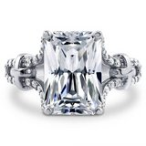 FINAL REDUCTION...GORGEOUS 7 CTTW Radiant Cut CZ Solitaire Engagement Ring***SZ9 in Kingwood, Texas