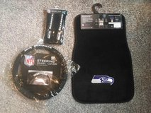 SEATTLE SEAHAWKS 5 pc. Vehicle Set (Floor Mats, Steering Wheel Cover, Seatbelt Pads) ** NEW in Tacoma, Washington