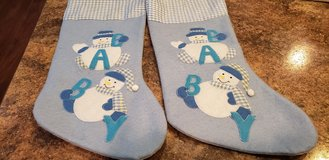 Baby boy's Christmas stockings in Sandwich, Illinois