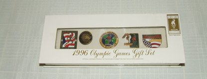 Atlanta 1996 Olympic Games Collector Pin Gift Set / Box NEW in St. Charles, Illinois