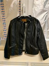 zara leather coat size S in Ramstein, Germany