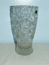 Beautiful Crystal Vase / Star of David by Zajecar of Yugoslavia in St. Charles, Illinois