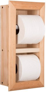 Recessed Double Toilet Paper  Holder - SOLID pine unfinished in Spring, Texas