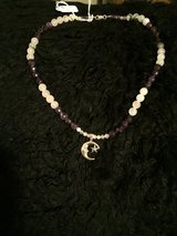 African  amethyst, Rose quartz Sterling silver necklace in Alamogordo, New Mexico