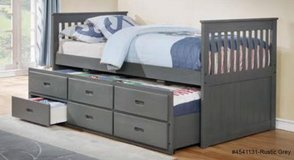 INVENTORY SALE! GREY URBAN FULL SIZE CAPTAIN BEDFRAME W/TRUNDLE STORAGE in Camp Pendleton, California