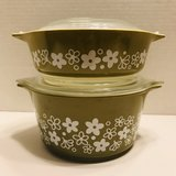 Pyrex Spring Blossom Crazy Daisy Covered Baking Dishes in Batavia, Illinois