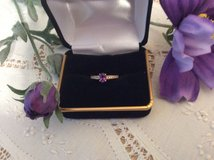 Amethyst and Diamond Ring 14K in Naperville, Illinois