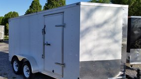 7' X 16' TA Enclose Trailer - White in Fort Campbell, Kentucky
