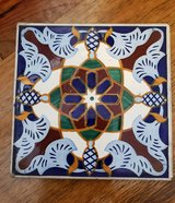 REDUCED TILE Vintage blue ceramic in 29 Palms, California
