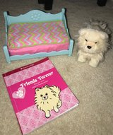 authentic American Girl dog, bed, and book in Houston, Texas