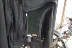 leather harley davidson riding chaps and vest in Camp Lejeune, North Carolina