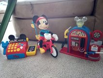 Micky Mouse toys cash register, biking Micky & gas pumps in Camp Lejeune, North Carolina