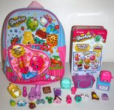 Like New! Shopkins Mini Backpack - Puzzle - 17 Figures + 4 Accessories in Naperville, Illinois