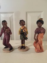 3 pc Ceramic Black Musicians in Eglin AFB, Florida