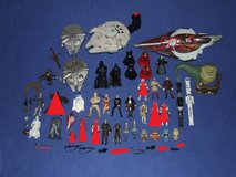 Stars Wars Toy Assortment Millenium Falcon Luke Han Darth R2-D2 Action Figurines Plus Much More in Batavia, Illinois