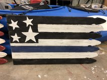 Fence Post Flag in Fort Lewis, Washington