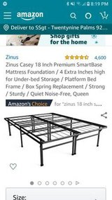 Zinus Casey 18 inch Queen smart base bed frame in 29 Palms, California