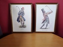 quirky Norman Orr golf prints in Lakenheath, UK