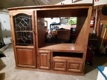 Solid Oak Entertainment Center in Orland Park, Illinois