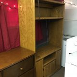 Solid Oak Entertainment Stand w/Light and DVD holders in Leesville, Louisiana