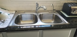 Franke Stainless Steel Double Bowl & Moen Renzo Faucet in Fort Polk, Louisiana